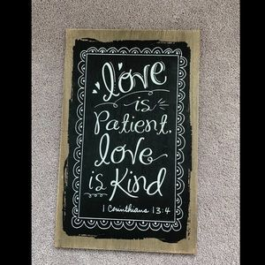🎉Wooden Love is Patient Wall Hanging